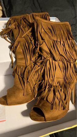 Fringe booties Size 9 Thumbnail