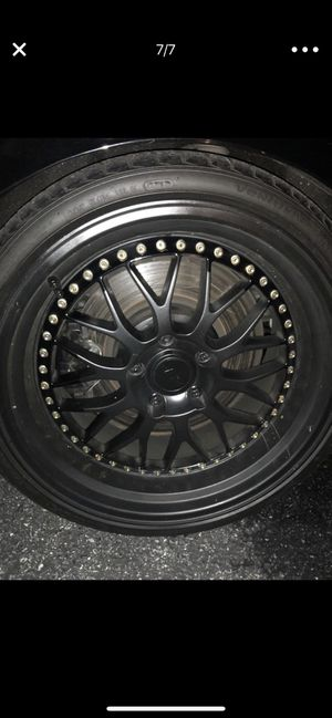 BBS 19' Rims with Hankook Tires (3.5in Lip on Rear,2in on the front) for Sale in Laurel, MD