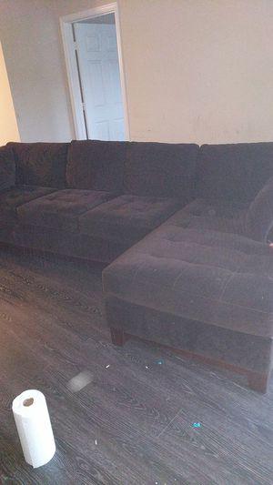 Free sectional micro fiber sofa for Sale in Herndon, VA
