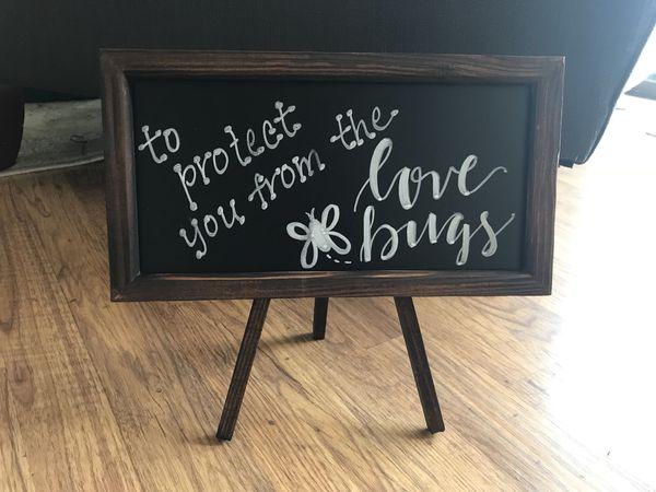 Wedding Sign - For Bug Spray Basket for Sale in Encinitas, CA - OfferUp