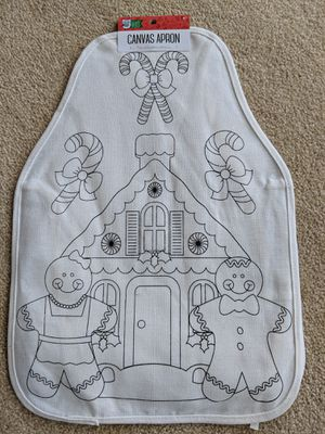 New Canvas (color your own) Kids Apron for Sale in Frederick, MD