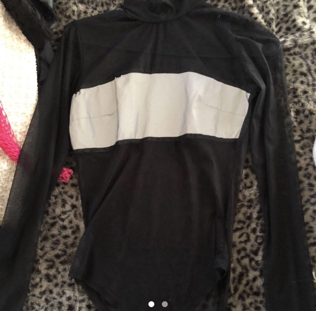 black reflective bodysuit