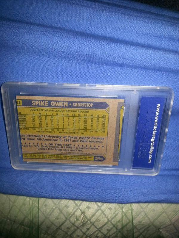 1987 Troops Error 320 Barry Bonds Rookie Wrongback And Spike Owen Baseball Card Will Go For 95 To For Sale In Glendale Az Offerup