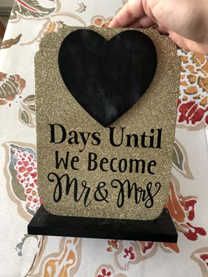 Chalk wedding countdown for Sale in Los Angeles, CA