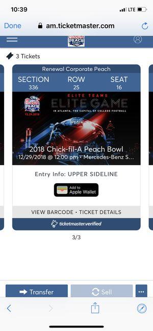 Chick-Fil-A Peach Bowl Ticket for Sale in Atlanta, GA