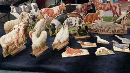Vintage card board Farm Animals Thumbnail