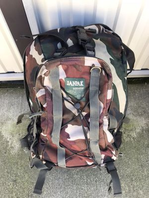 Nice Janpak Camo outdoor backpack for Sale in Sanger, CA
