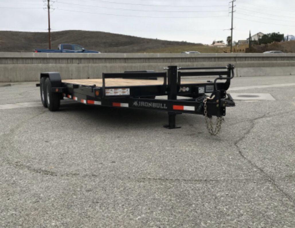 New 83x20 Ironbull equipment trailer * slide in ramps *