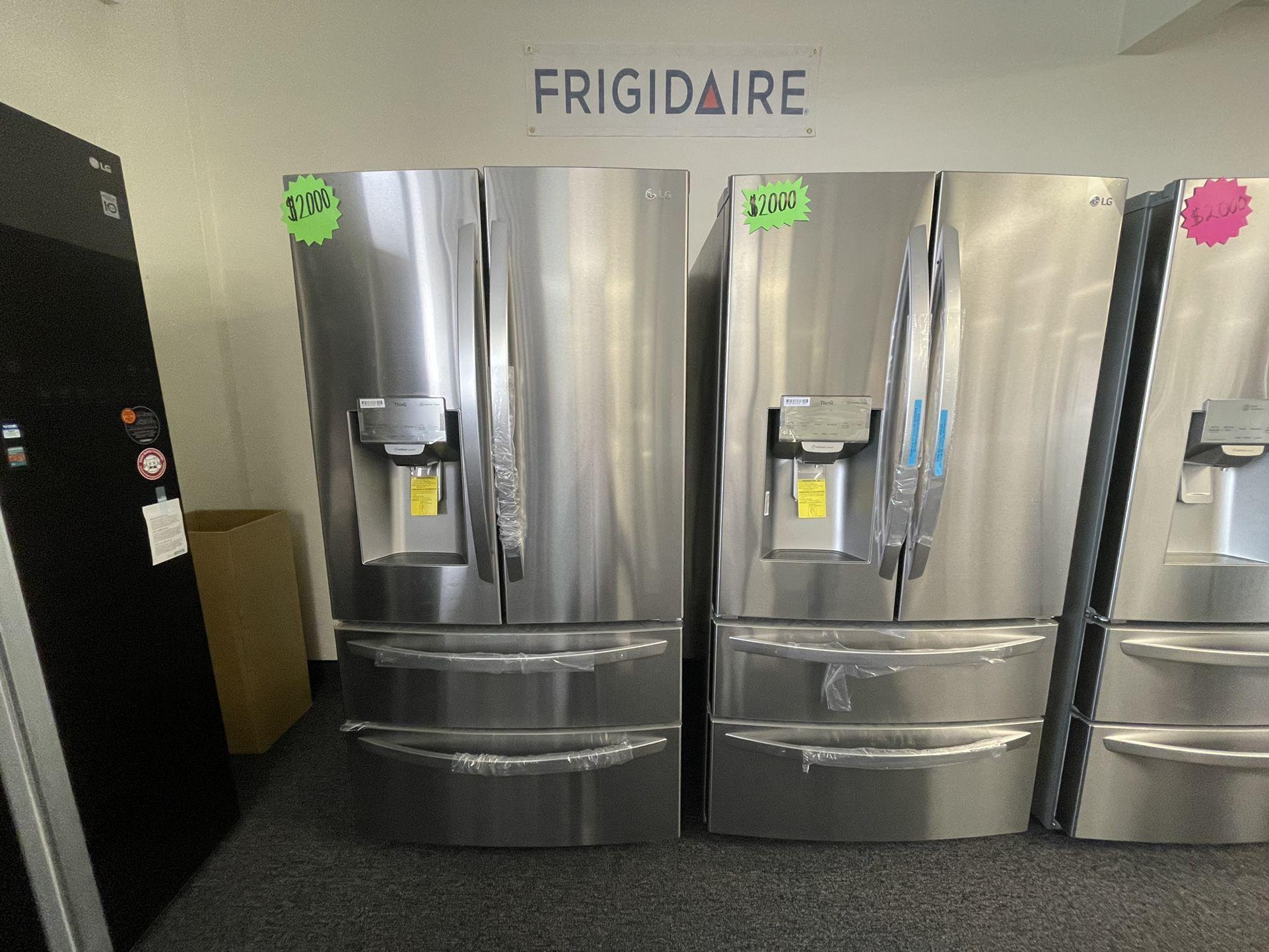 New Lg Four Door Refrigerator