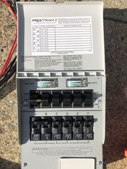 6 circuits Transfer switch and 10/3 cable for sale Thumbnail