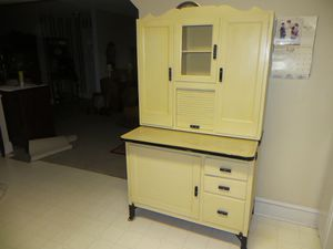 Hoosier painted antique white for Sale in Brentwood, NC