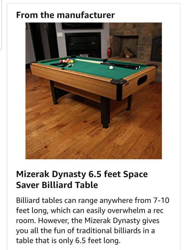 Space Saver Billiard Table For Sale In Cerritos CA OfferUp - Mizerak space saver pool table