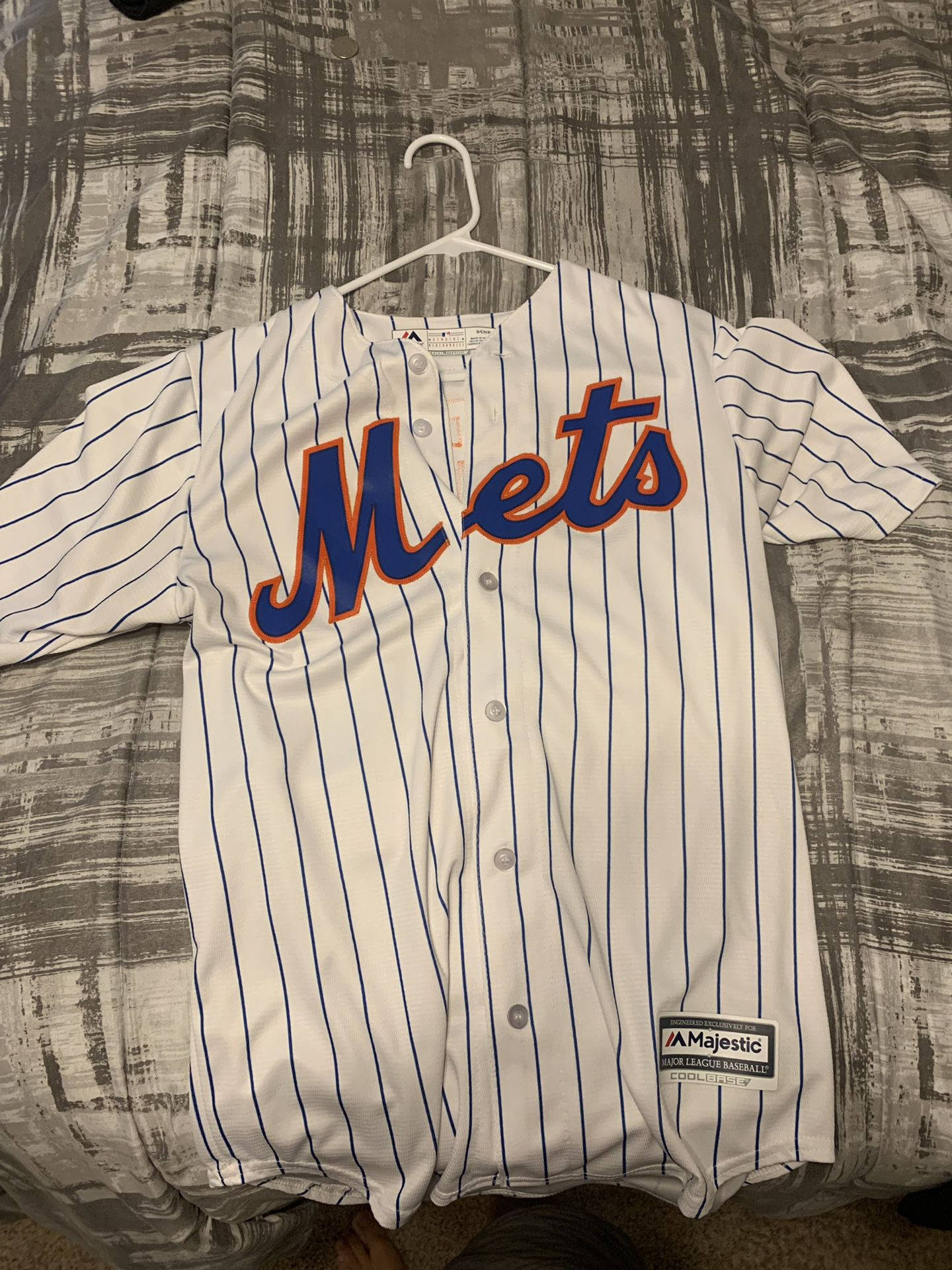Mets pinstripe jersey. Adult small