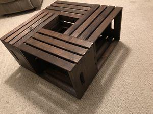 Wooden Crate Coffee Table for Sale in Waynesboro, VA