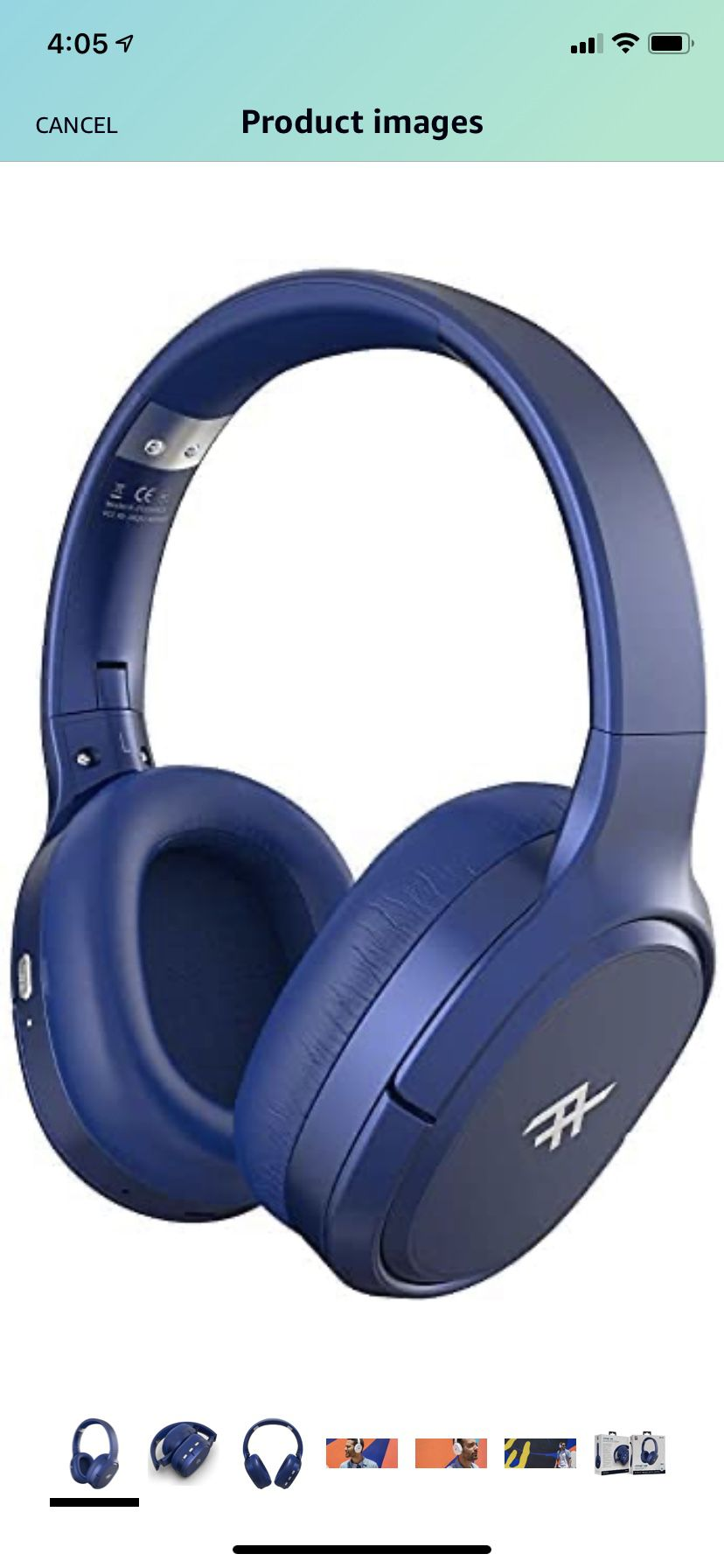 iFrogz AIRTIME VIBE Wireless On-Ear Headphones with Noise-Canceling - Blue