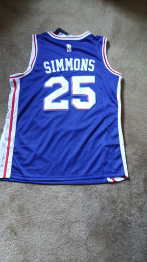 16c169a3a Sixers Men s Simmons Sewn Basketball Jersey for Sale in Bensalem