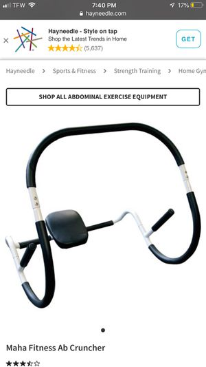 Abdominal exercise equipment for Sale in Durham, NC