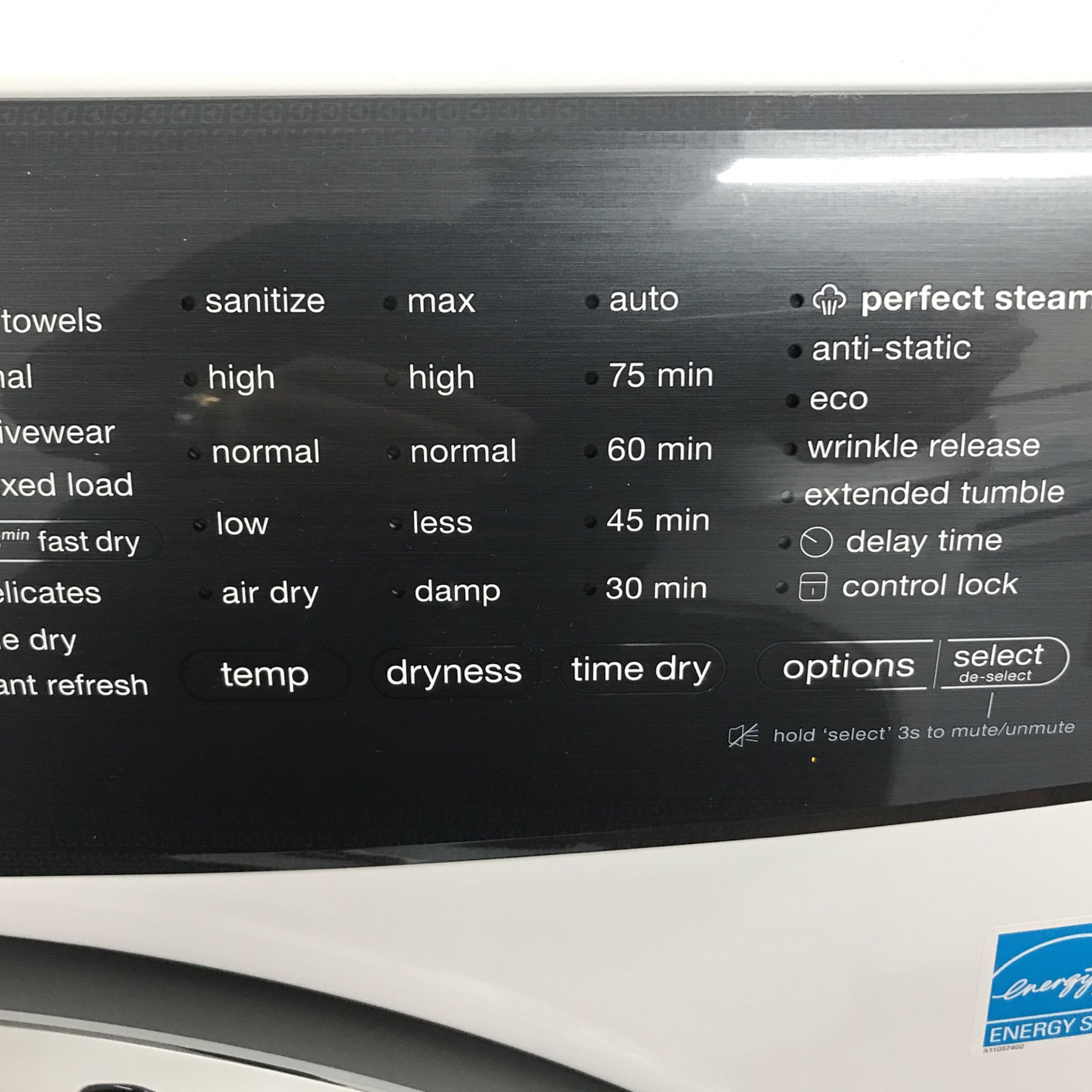 Electrolux Dryer In White Front Loader