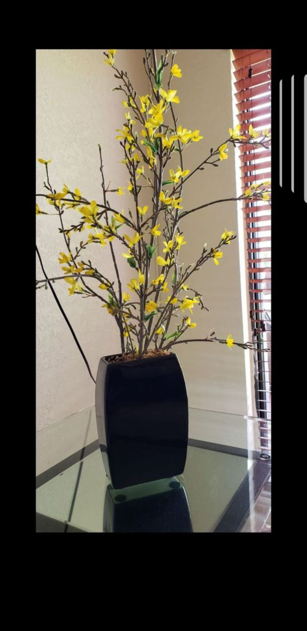 Home Decor Flowers Arrangement With Vase Bucaro Con Flores Florero Decorativo For In D Fl Offerup