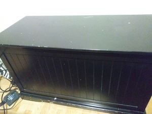 Black trunk tv stand for Sale in Salt Lake City, UT