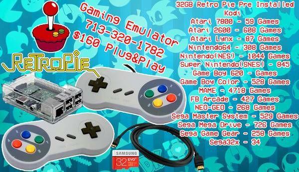 RetroPie Gaming Emulator 33GB for Sale in Houston, TX - OfferUp