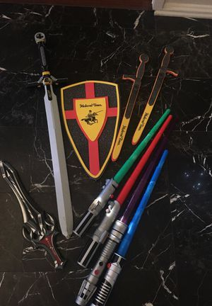 Sabres and swords and shields! for Sale in Sugar Land, TX