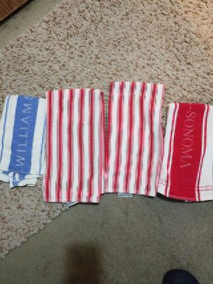 4 William Sonoma dish towels. for Sale in OR, US