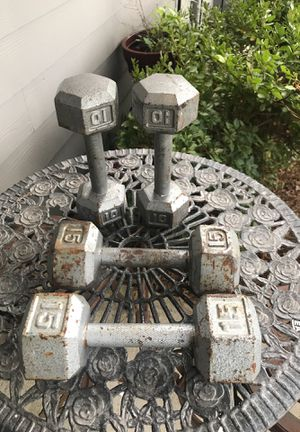 Dumbbells Hex Set Weight Trainer Weightlifter 🏋️♀️ 10 Lbs 15 Lbs Training Gym Workout for Sale in Johns Creek, GA