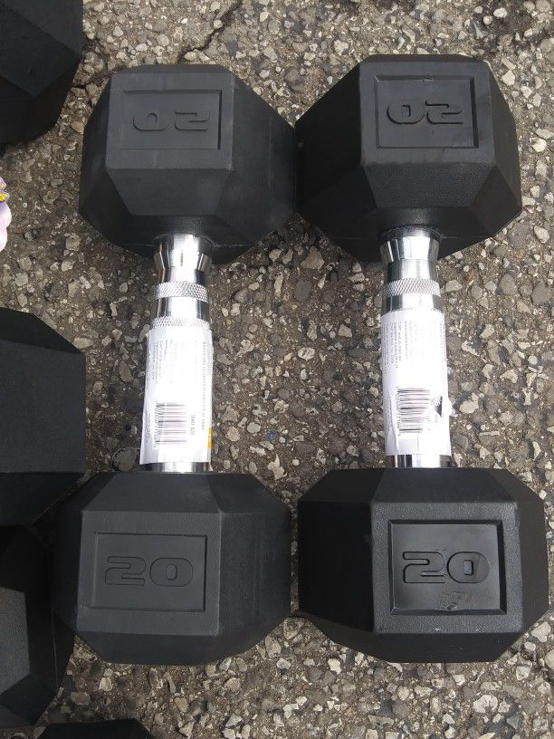 (3) Sets Of Dumbbells- Brand New All Included