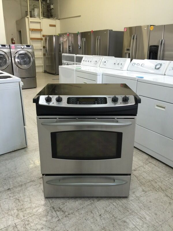 Ge 30 Slide In Gl Top Electric Range Stove Convection Oven For