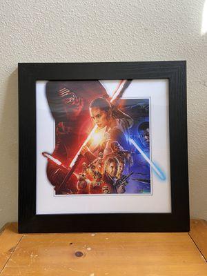 Photo Star Wars poster frame home decor light saber art