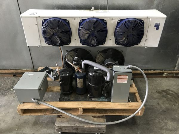 Compressor and condenser 2 1/4hp 220v Single Phase Walk in Freezer on