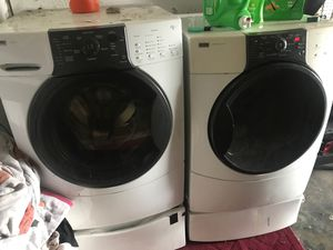 Photo Kenmore elite washer and dryer