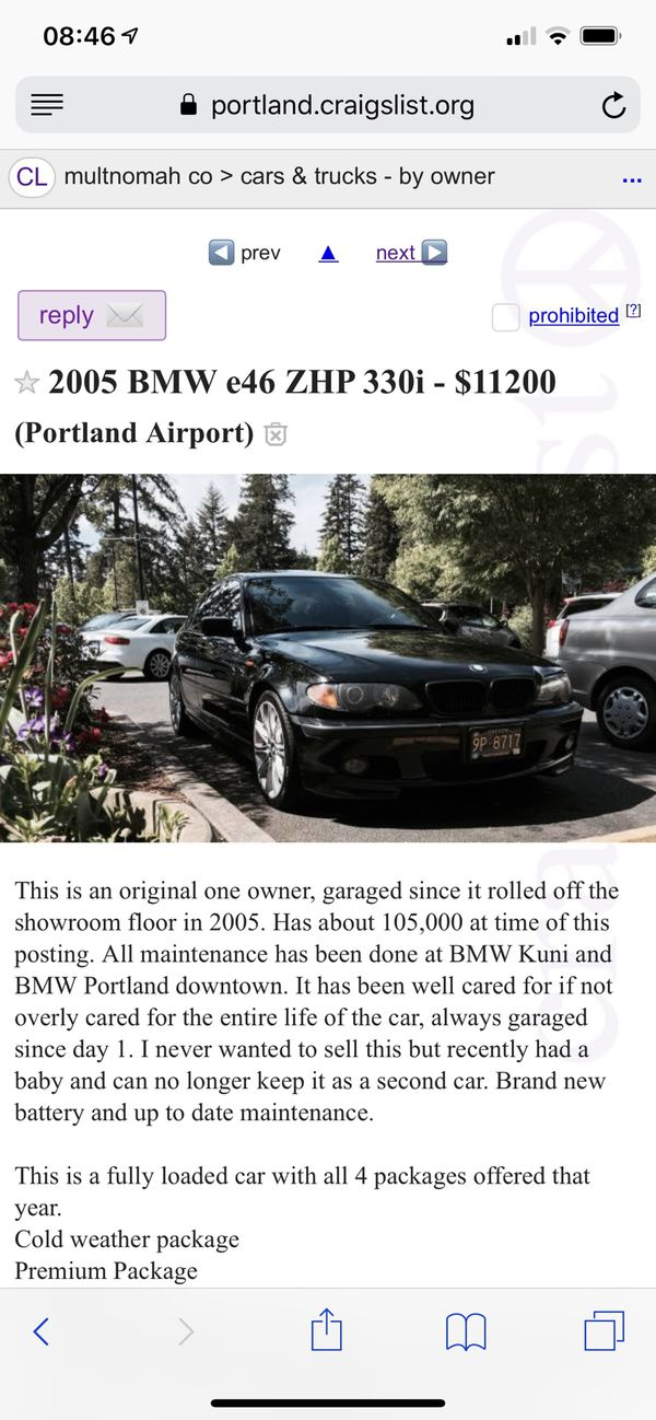 2005 Bmw 330i Zhp For Sale In Portland Or Offerup