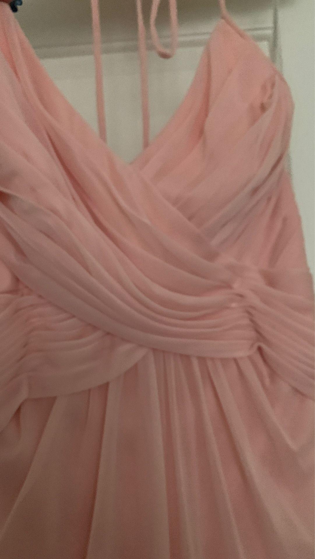 David's bridal halter dress size 6