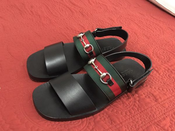 0a46d99c04aa GUCCI Leather WEB SANDAL for Sale in Austin