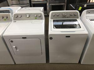 Photo ON SALE! Maytag Washer Electric Dryer Set Large Capacity White #757