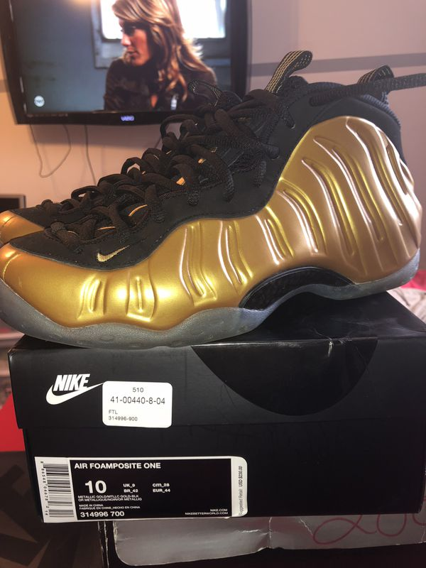 997563d07282 Nike Foamposite Metallic Gold size 10 for Sale in Orlando