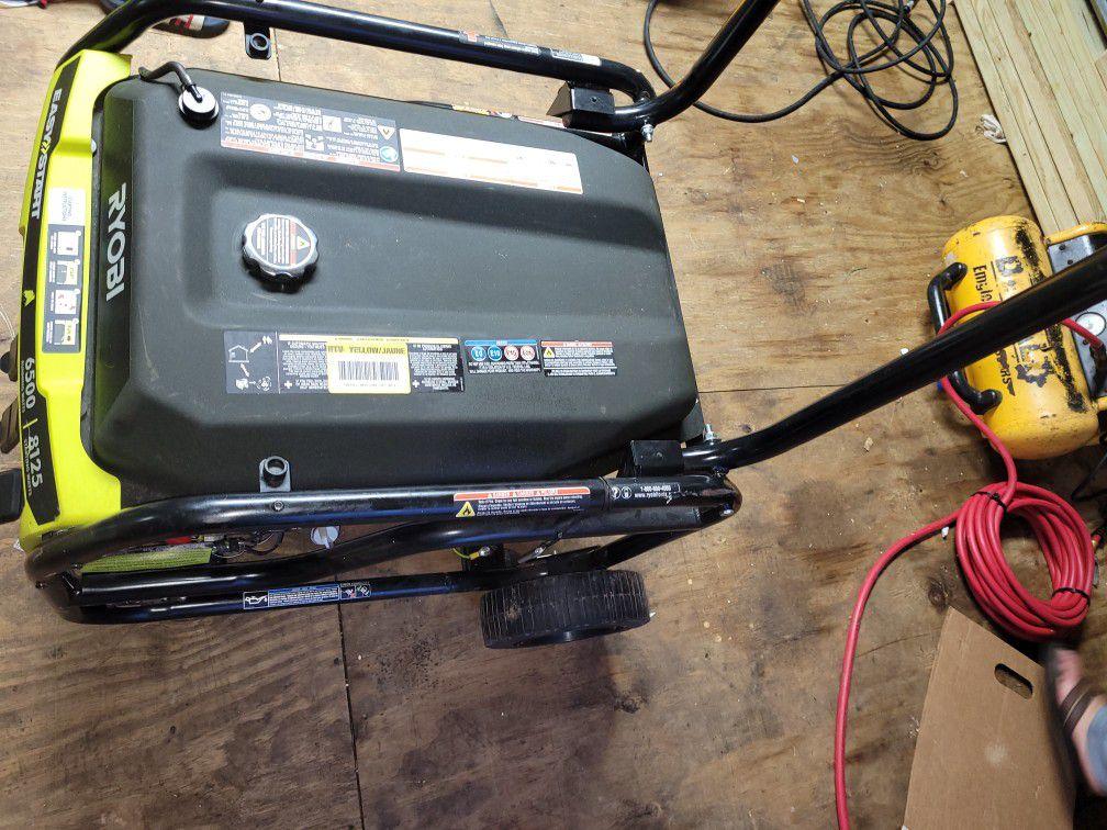 Ryobi 6500 Watt Generator Used Like New Working Well