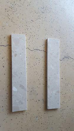Granite backsplash sidesplash crushed marble Thumbnail