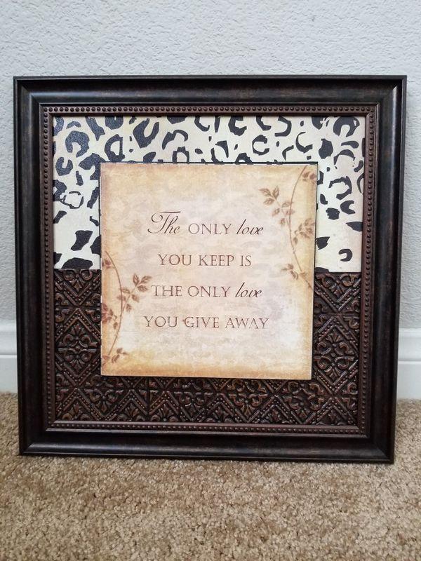 Leopard love sign art frame for Sale in Las Vegas, NV - OfferUp