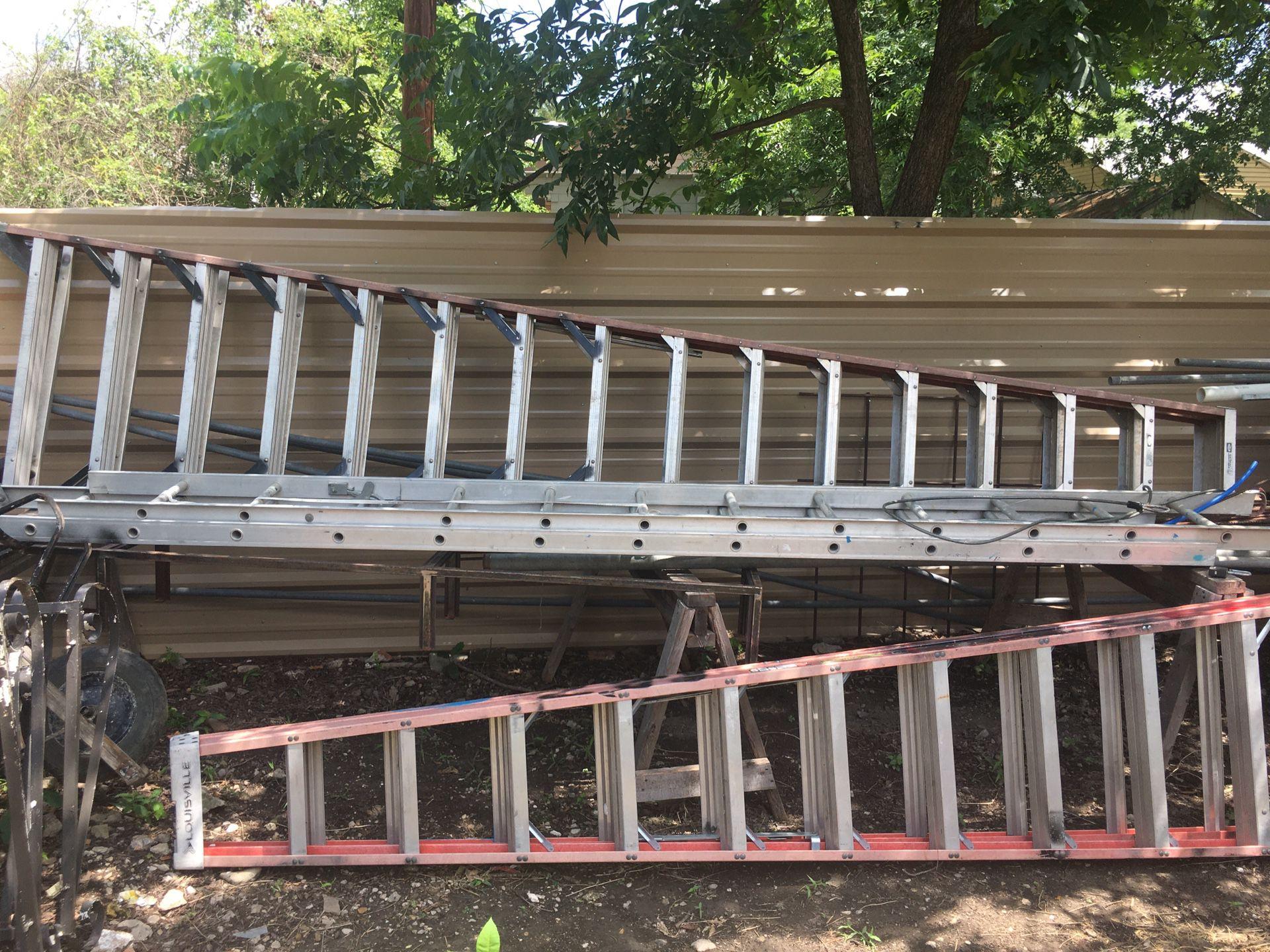 Escalera 16 pies De Tijera Escalones Dos Lados