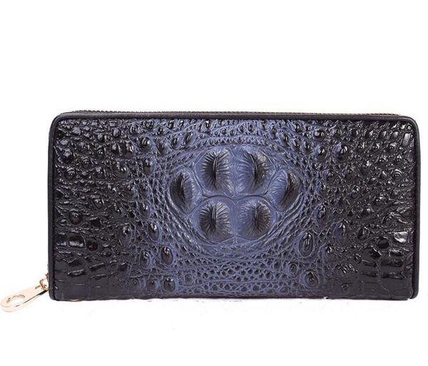 f9ba732b67fe3a Prada unisex navy crocodile print leather wallet for Sale in ...