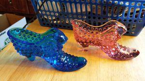 Fenton glass slippers. for Sale in Oakton, VA