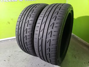 Two 225/40/19 BRIDGESTONE POTENZA S04 POLE POSITION FREE MOUNT AND BALANCE!! for Sale in Tampa, FL
