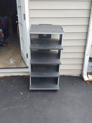 rolling shelving unit / tv stand for Sale in Bowie, MD