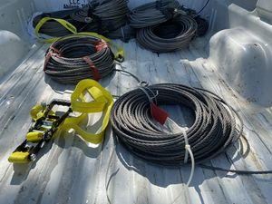 Photo 9mm X 85m wire ropes. Not good for rigging, use only as decoration materials.