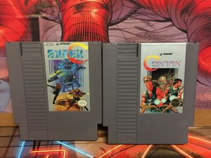 Contra & Super C (Contra 2) Nes Games Bundle For Sale for Sale in Austin, TX