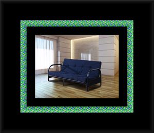 Black futon frame with mattress for Sale in Upper Marlboro, MD