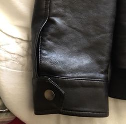Forever 21 Faux Leather Bomber Jacket Thumbnail